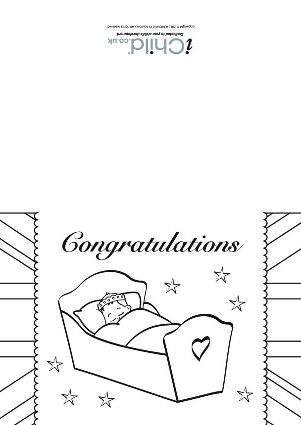 Royal Baby Congratulations Card