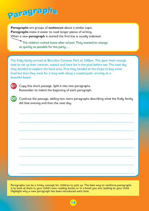 Collins Easy Learning KS2 English, Paragraphs
