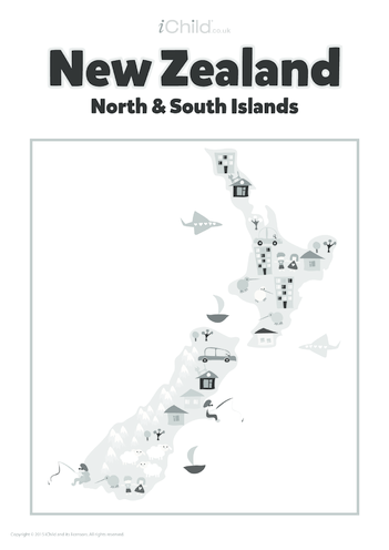 Thumbnail image for the Map of New Zealand activity.