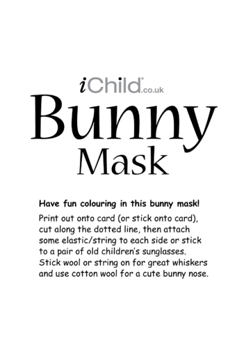 Thumbnail image for the Bunny Animal Mask activity.