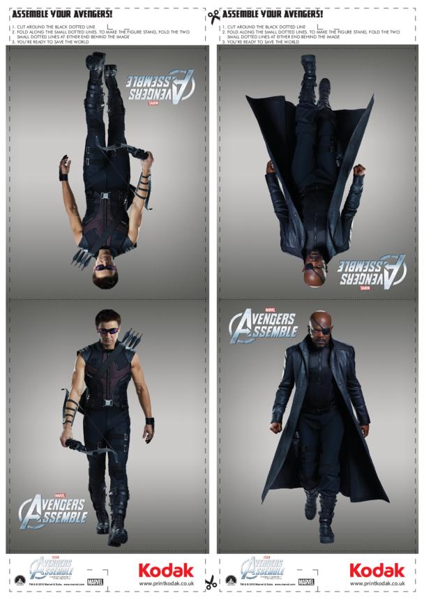 Fold Figures: Clint Barton/Hawkeye & Nick Fury