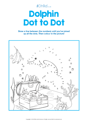 Thumbnail image for the Dolphin Dot to Dot activity.