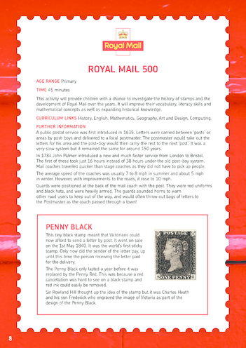 Thumbnail image for the Royal Mail 500 Lesson Plan activity.