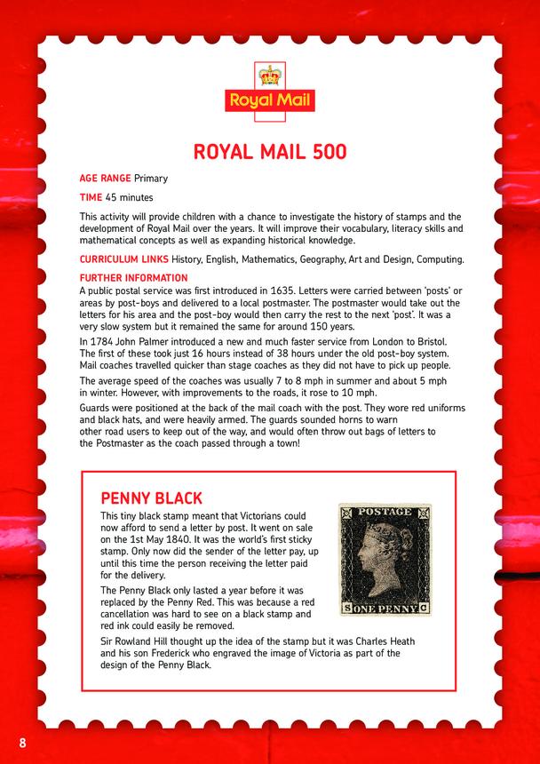 Royal Mail 500 Lesson Plan