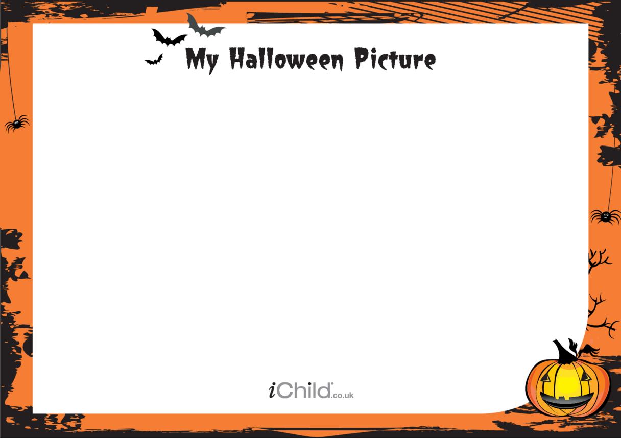 Halloween Blank Drawing Template