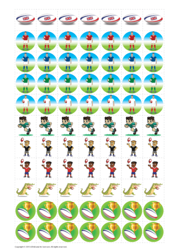Thumbnail image for the Rugby Reward Chart Stickers activity.