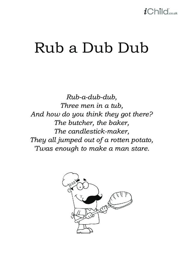 Rub a Dub Dub Lyrics