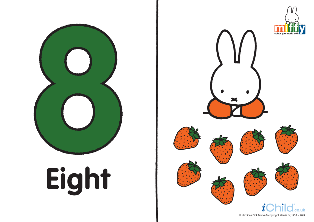 Number 8 with Miffy (less ink)
