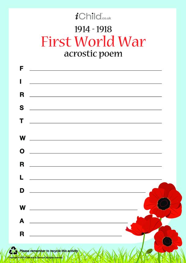 First World War Acrostic Poem