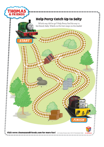 Thumbnail image for the Percy's Maze (Thomas & Friends) activity.