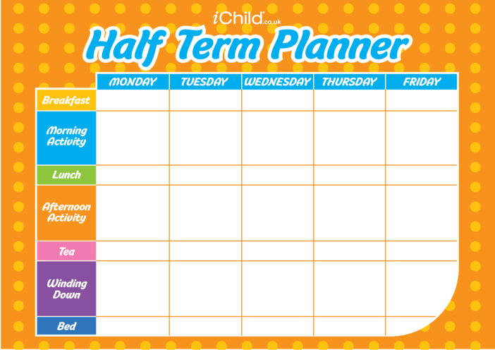 Thumbnail image for the Half Term Planner activity.