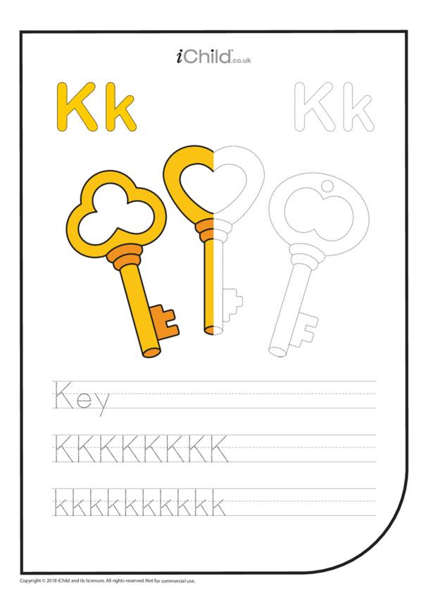 K: Write the Letter K for Key