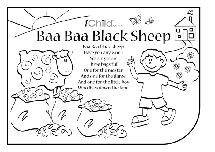 Thumbnail image for the Baa Baa Black Sheep Lyrics activity.