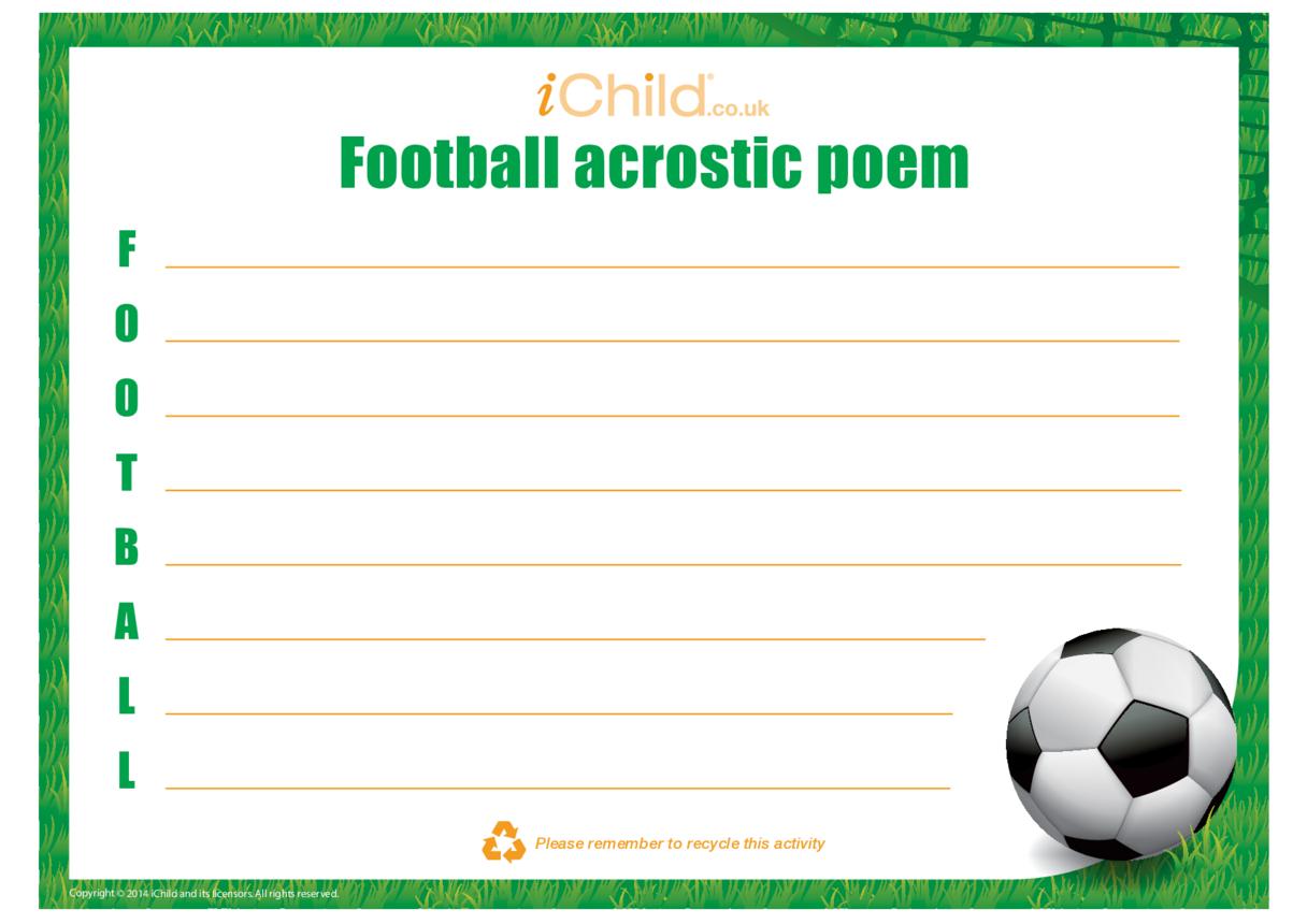 Football Acrostic Poem
