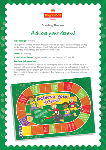Thumbnail image for the Primary 5) Achieve Your Dream Lesson Plan activity.