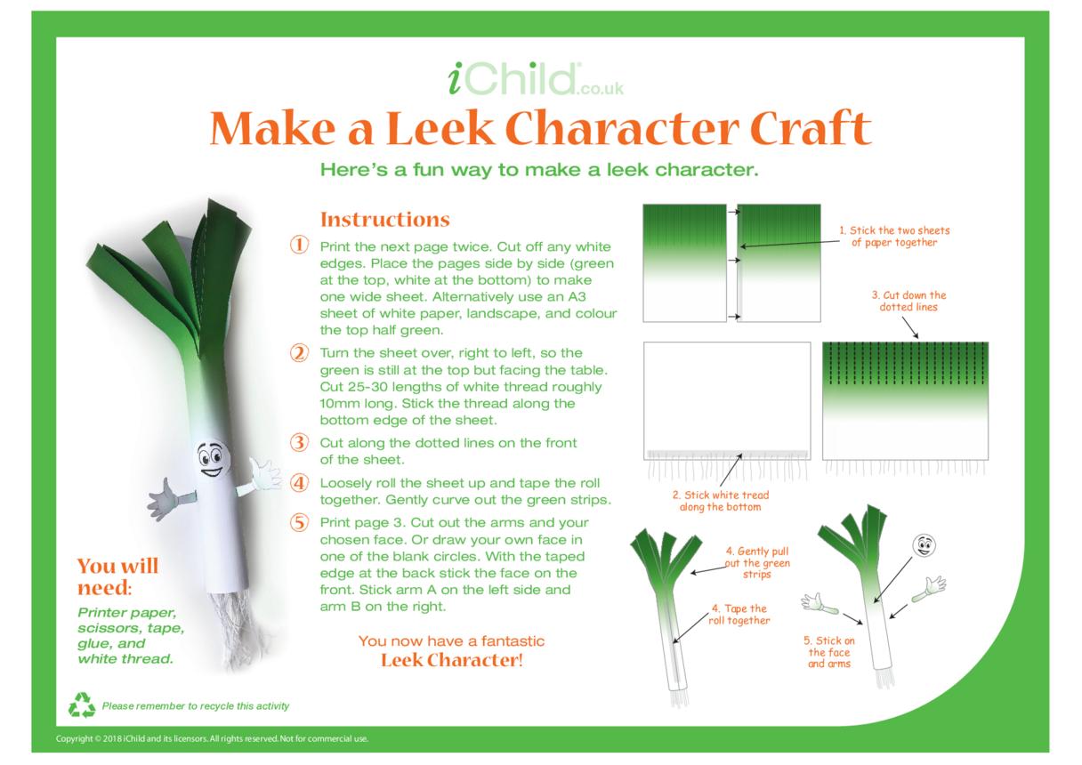 Make a Leek Character Craft