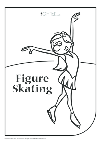 Thumbnail image for the Figure Skating Colouring in Picture activity.