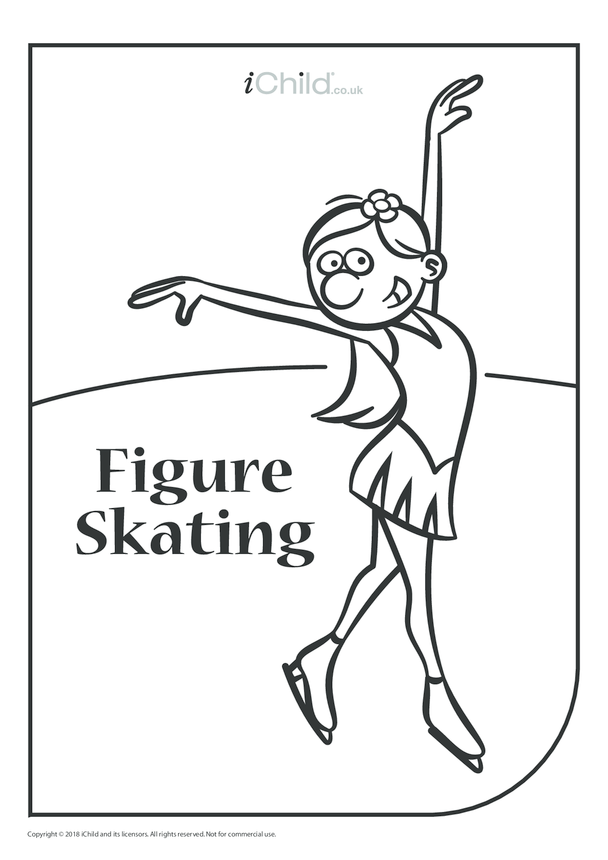 Figure Skating Colouring in Picture