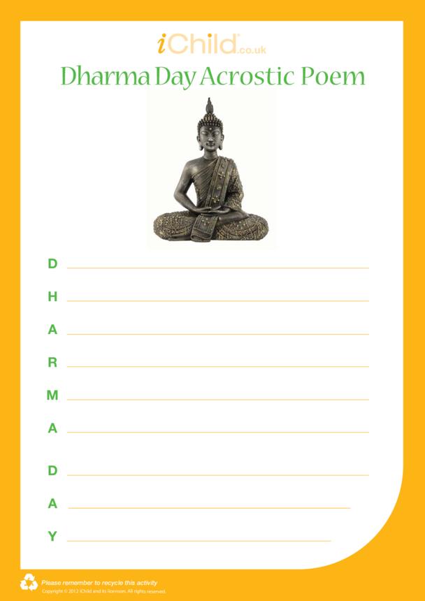 Dharma Day Acrostic Poem