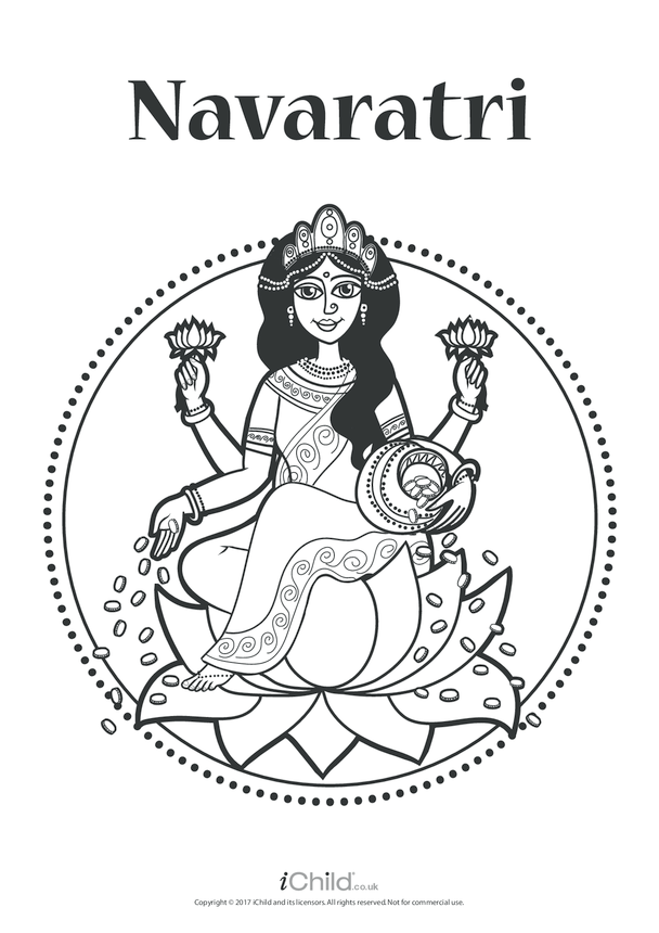 Navaratri Poster (black & white)