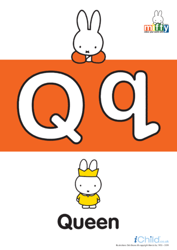 Thumbnail image for the Q: Miffy's Letter Qq  activity.