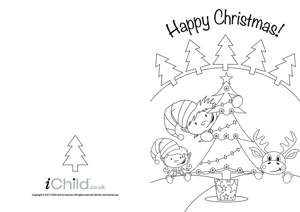 Christmas Card: Christmas Tree & Little Helpers