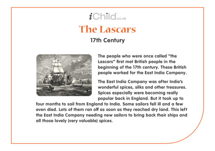 Thumbnail image for the Lascars: Historical Story activity.