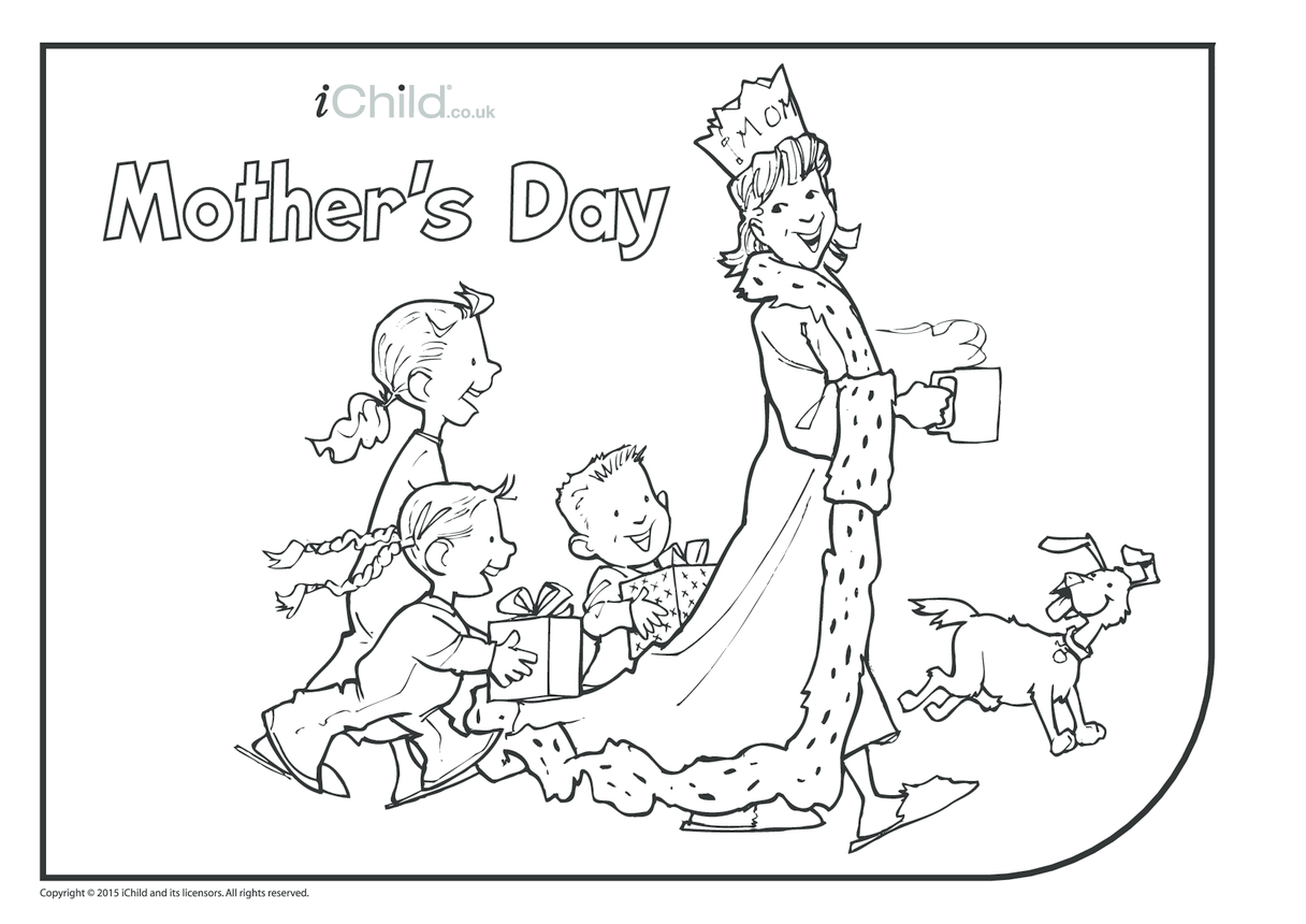 Mother's Day Colouring in Picture (Queen for day!)