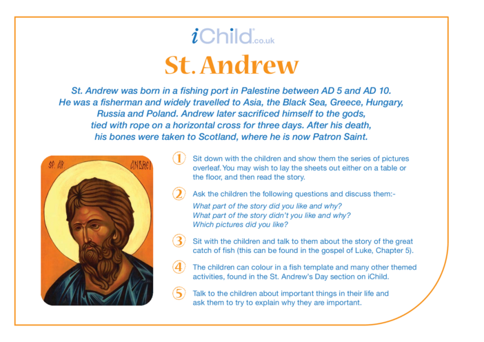 Thumbnail image for the St. Andrew Religious Festival Story activity.