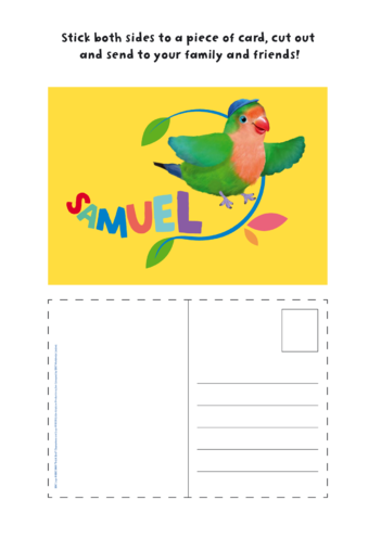 Thumbnail image for the 3rd & Bird Samuel Postcard activity.