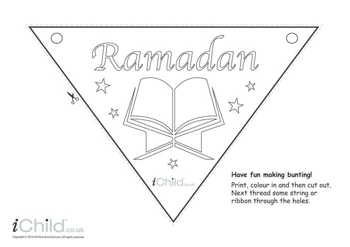 Thumbnail image for the Ramadan Bunting activity.