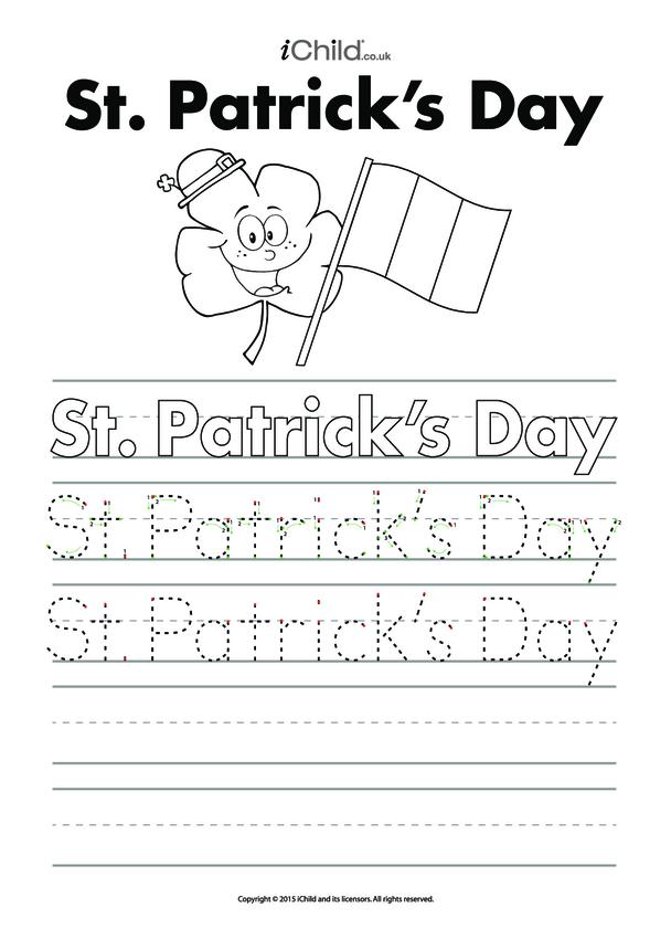 St. Patrick's Day Handwriting Practice Sheet