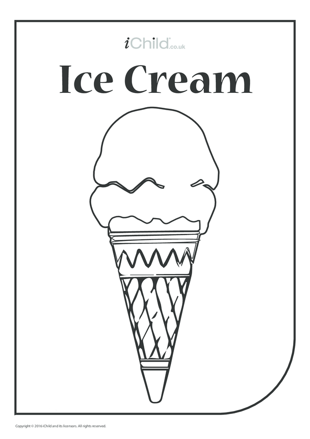 Ice Cream Colouring in Picture