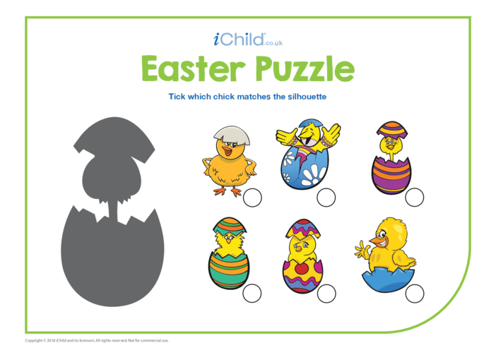 Thumbnail image for the Easter Matching Puzzle activity.