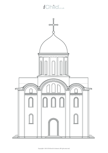 Thumbnail image for the Church Colouring in Picture activity.