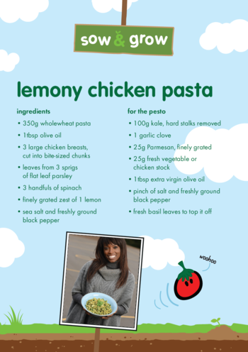 Thumbnail image for the innocent - Lemony Chicken Pasta Recipe activity.