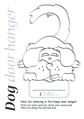 Thumbnail image for the Dog Door Hanger activity.