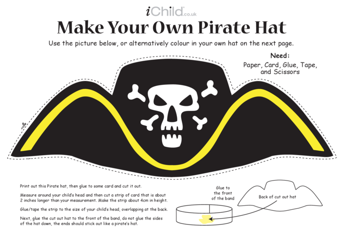 Thumbnail image for the Make a Pirate Hat Craft activity.