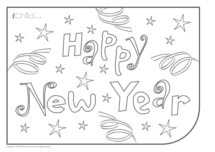 Thumbnail image for the Happy New Year Place Mats activity.