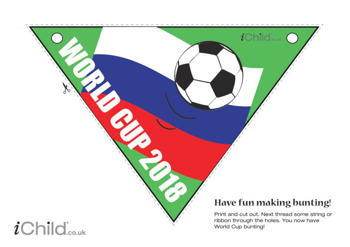 Thumbnail image for the World Cup Bunting 2018 activity.