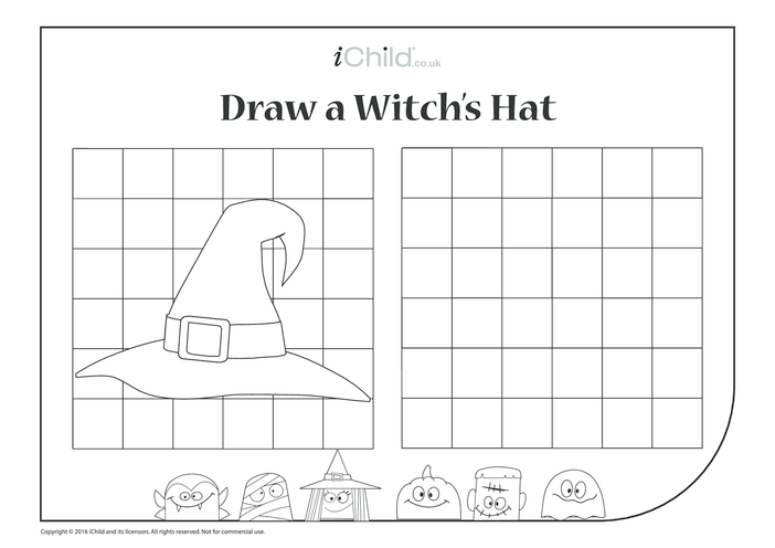 Thumbnail image for the Draw a Witch's Hat activity.