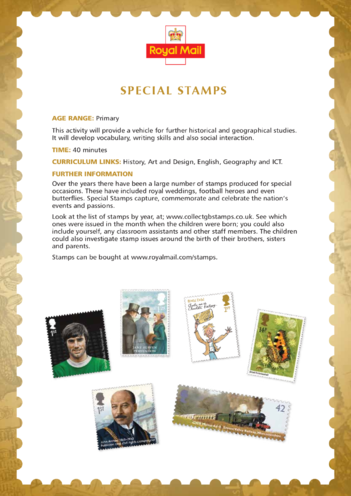 Thumbnail image for the 2013_Primary 2) Special Stamps Lesson Plan activity.