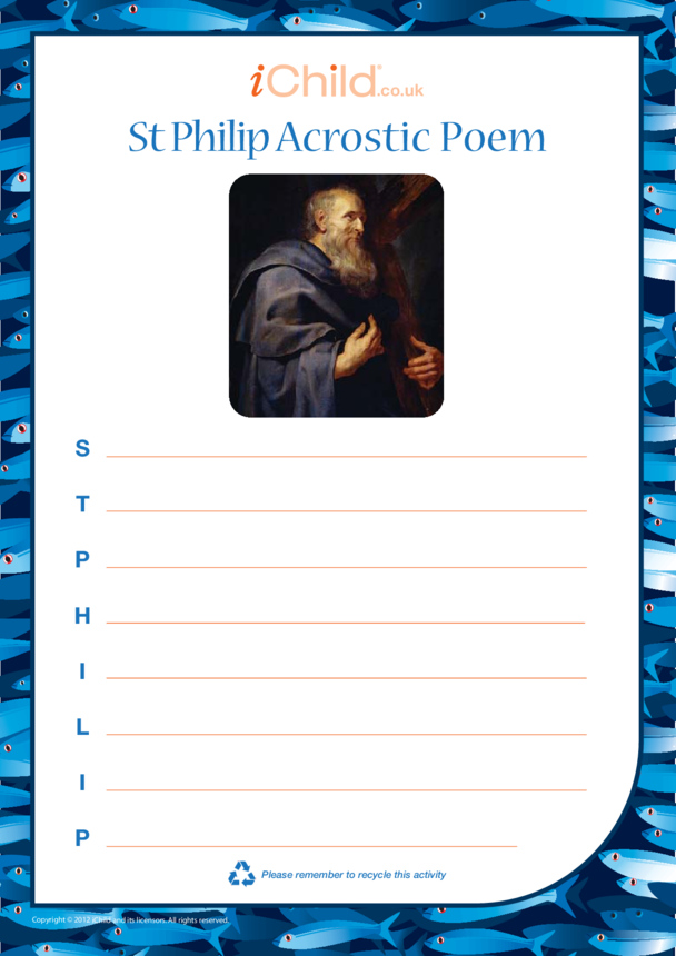 St. Philip The Apostle Acrostic Poem
