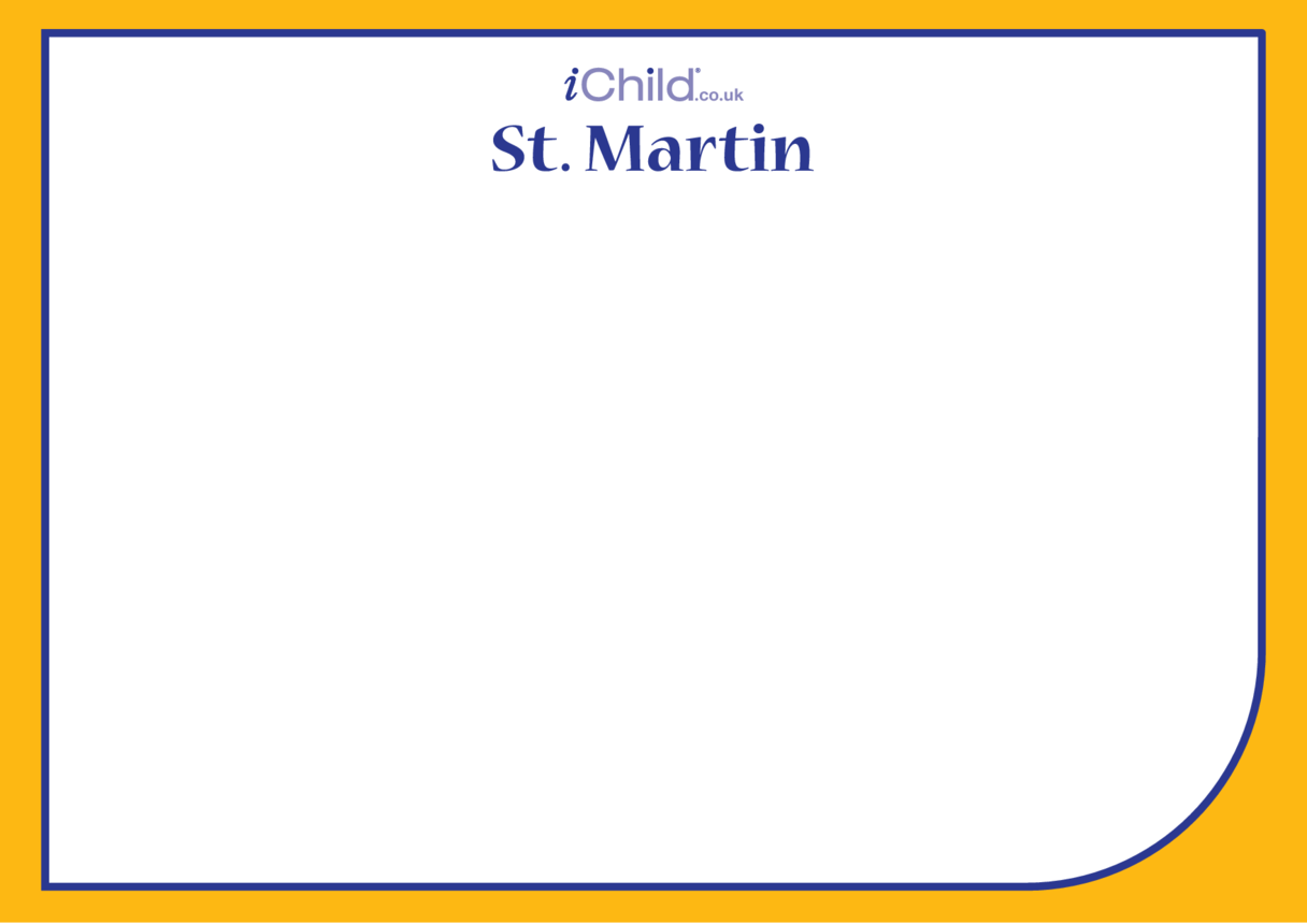 St. Martin Blank Drawing Template