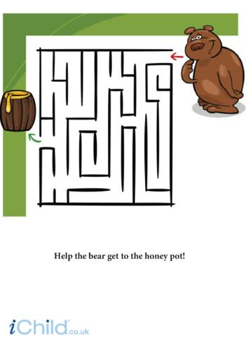 Thumbnail image for the Bear Maze activity.