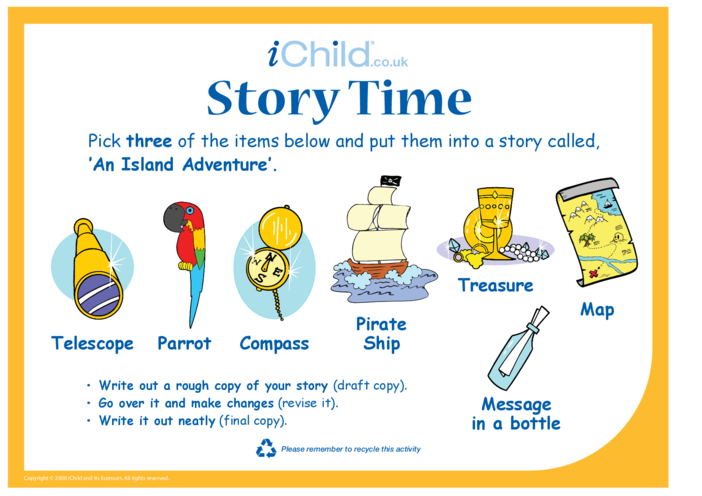 Thumbnail image for the Story Time - Island activity.