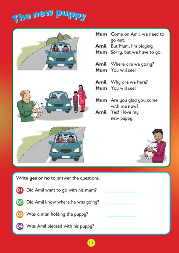 Collins Easy Learning KS1 English Comprehension, The New Puppy