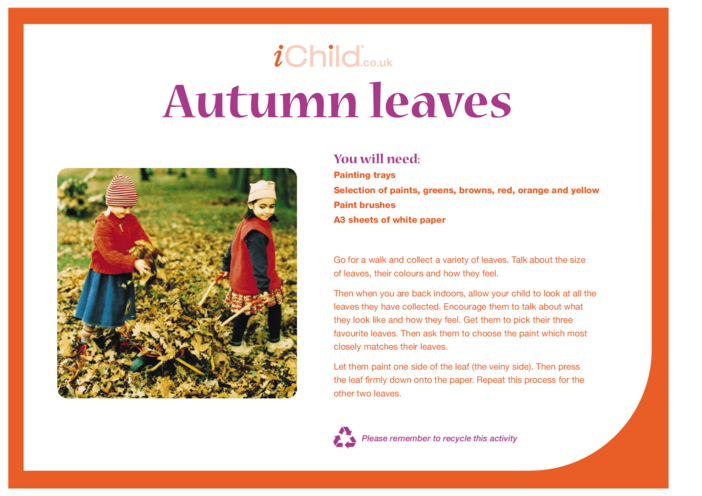 Thumbnail image for the Autumn Leaves activity.