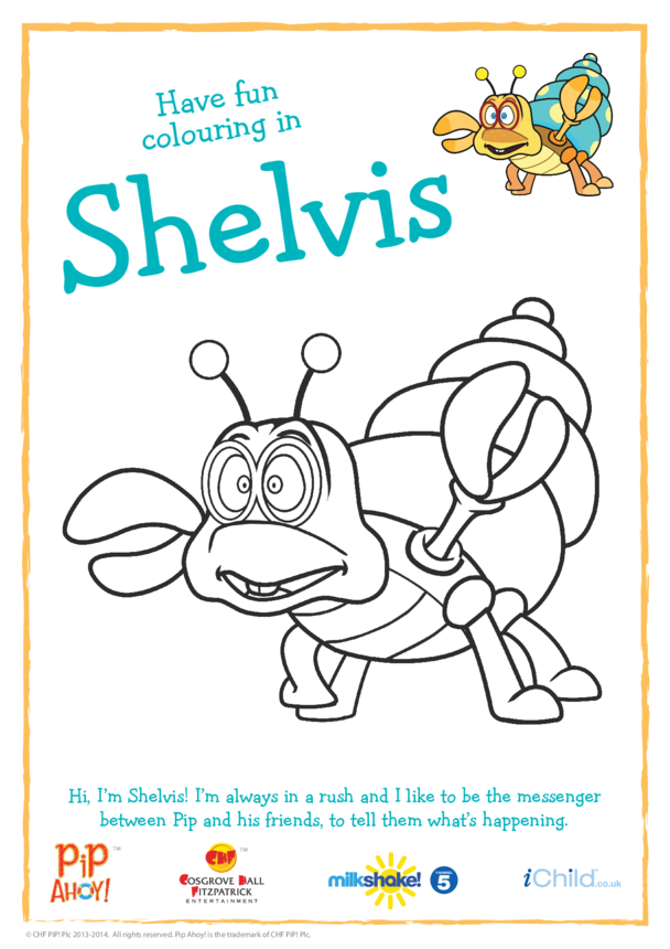 Shelvis Colouring in Sheet (Pip Ahoy!)