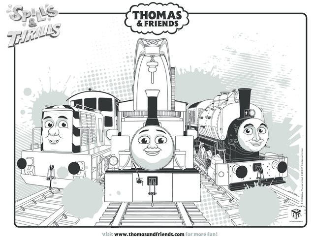 Thumbnail image for the Harvey, Porter & Salty Colouring in Picture (Thomas & Friends) activity.